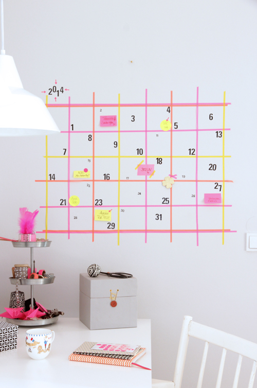 20 id es scotchantes r aliser avec du masking tape h ll blogzine. Black Bedroom Furniture Sets. Home Design Ideas