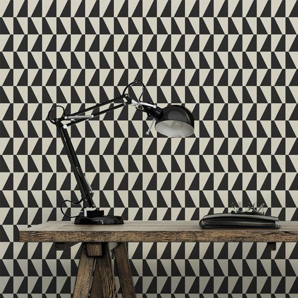 Hello papier peint geometrique hookedonwalls h ll blogzine - Papier peint geometrique ...
