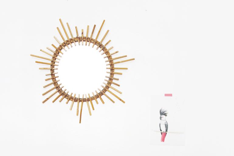 Le miroir en rotin etoile ampm h ll blogzine for Le miroir du desir
