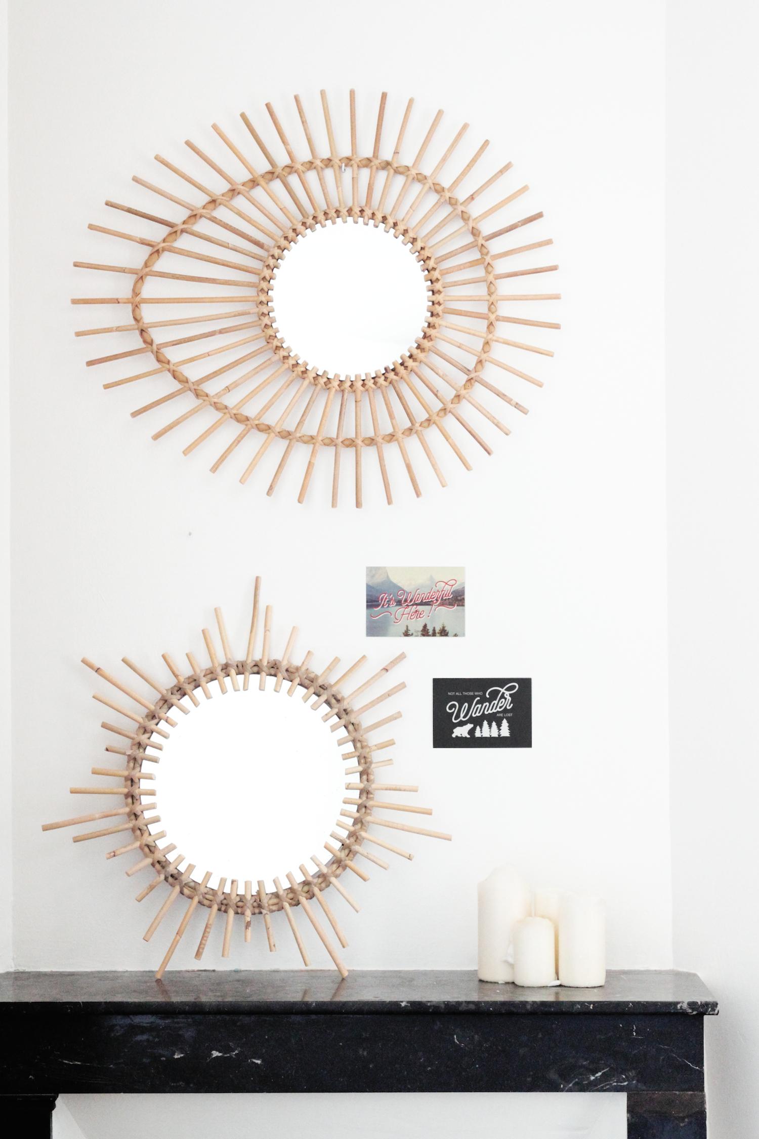 Miroirs rotin vintage for Desire miroir miroir