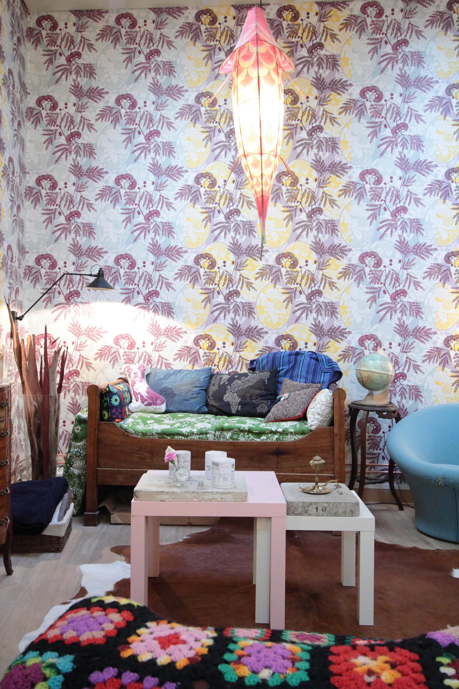 Chez laetitia du blog vert cerise - Papier peint petit pan ...