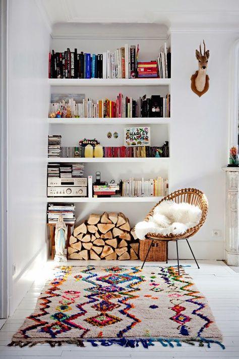 inspiration deco boheme chic fauteuil rotin tapis boucherouite h ll blogzine. Black Bedroom Furniture Sets. Home Design Ideas