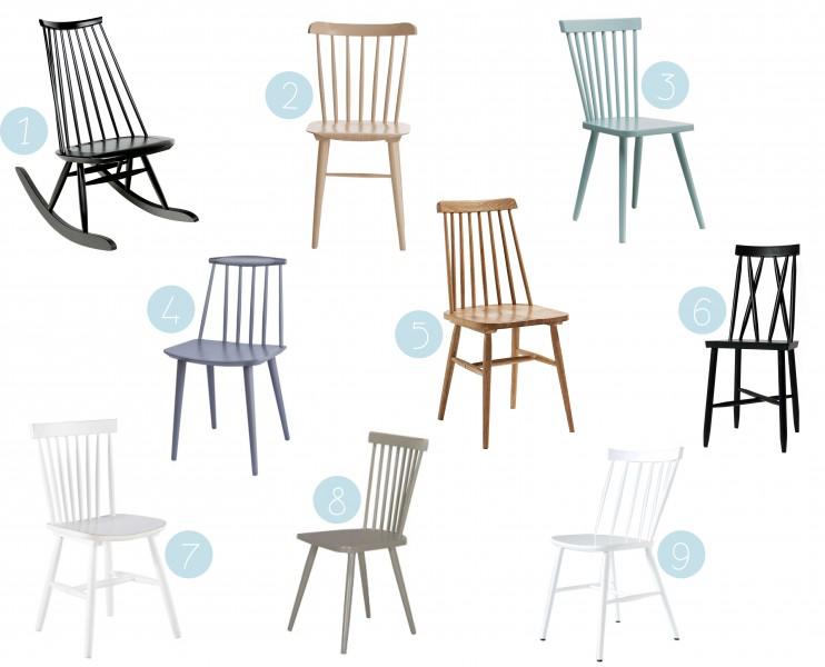 O trouver une chaise barreaux scandinave - Ou trouver des housses de chaises ...