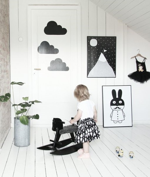 miniwilla poster noir et blanc enfant h ll blogzine. Black Bedroom Furniture Sets. Home Design Ideas