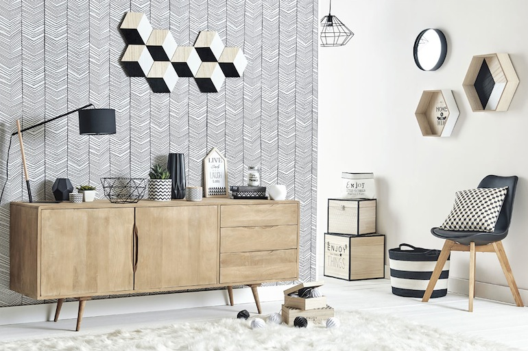 la collection scandinave stockholm de maisons du monde. Black Bedroom Furniture Sets. Home Design Ideas