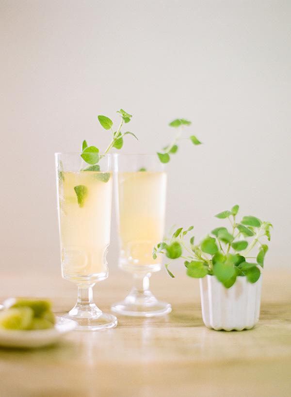 Cocktail au champagne pour noel