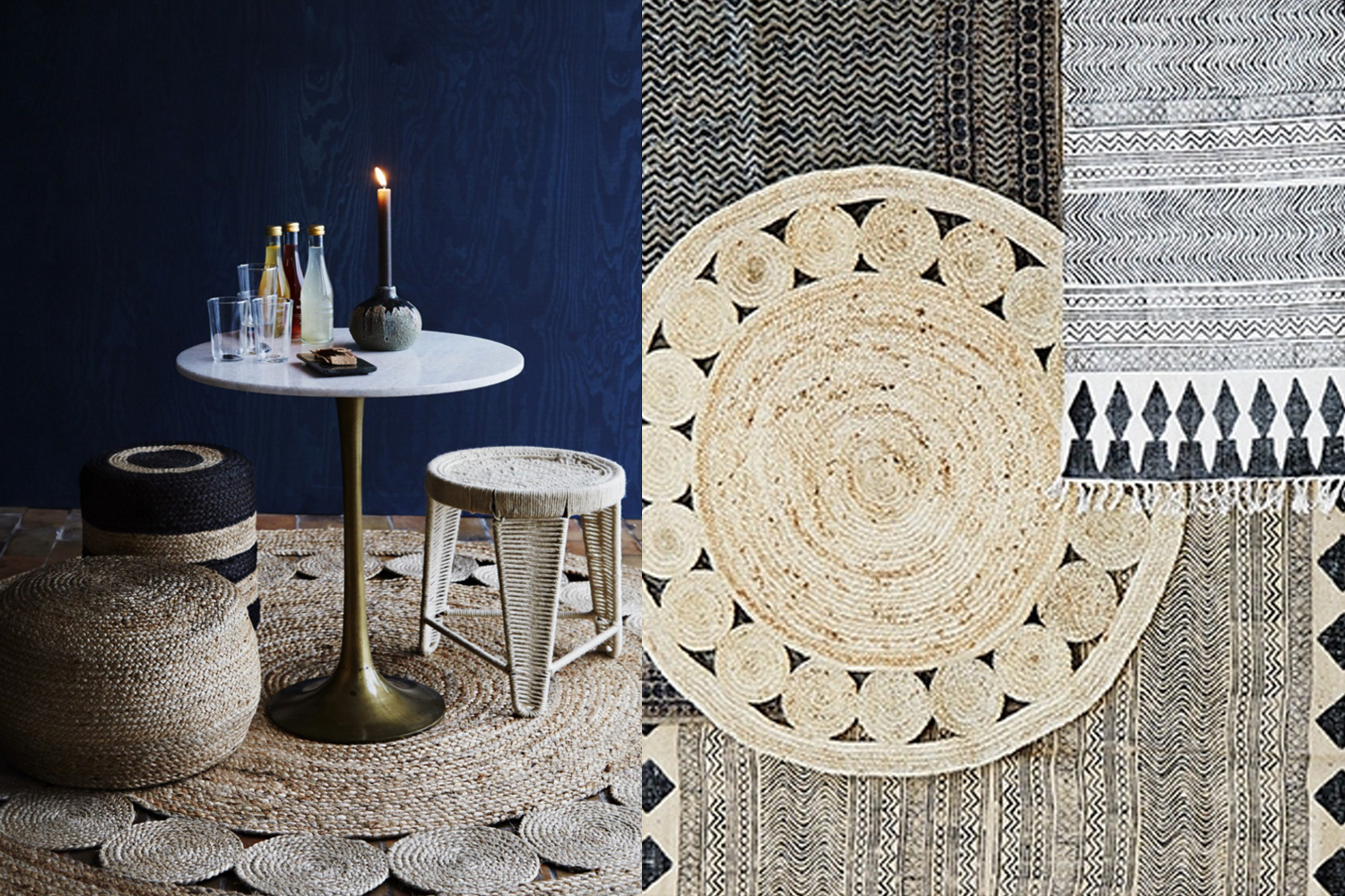 l 39 objet du d sir le tapis boho en jute madam stoltz h ll blogzine. Black Bedroom Furniture Sets. Home Design Ideas