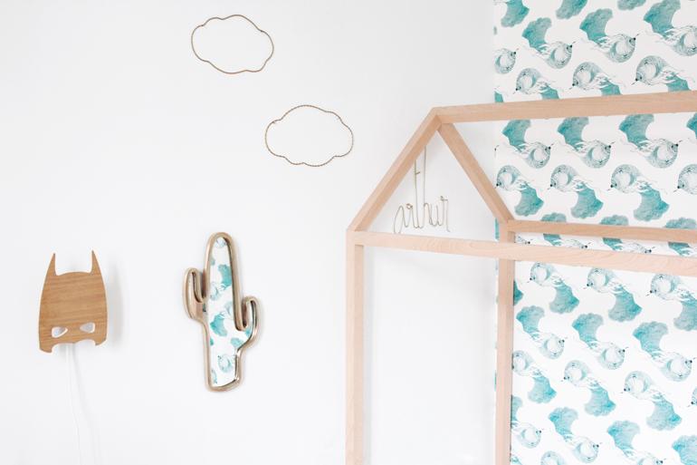 de la d co en forme de maison pour la chambre des enfants. Black Bedroom Furniture Sets. Home Design Ideas