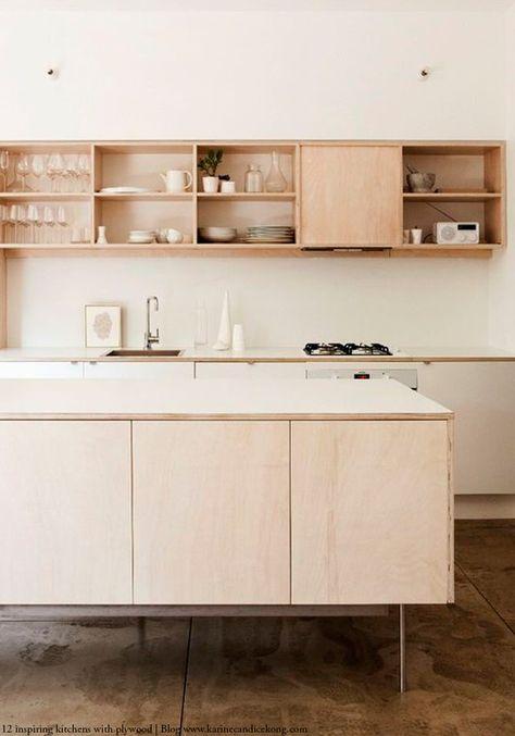 le contreplaqu un mat riau peu cher et design pour refaire sa cuisine. Black Bedroom Furniture Sets. Home Design Ideas