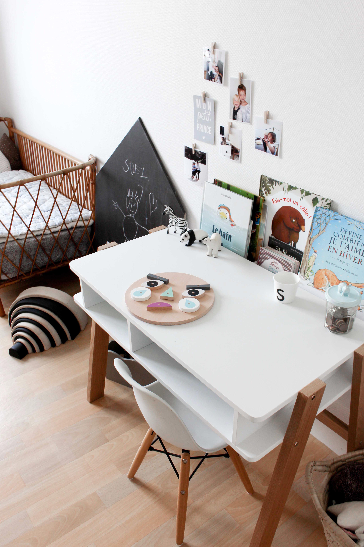Une déco scandinave noir et blanc pour la chambre d enfant