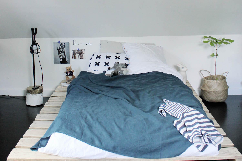 La chambre d 39 ado tendance et moderne en noir et blanc de philippine for Chambre deco ado