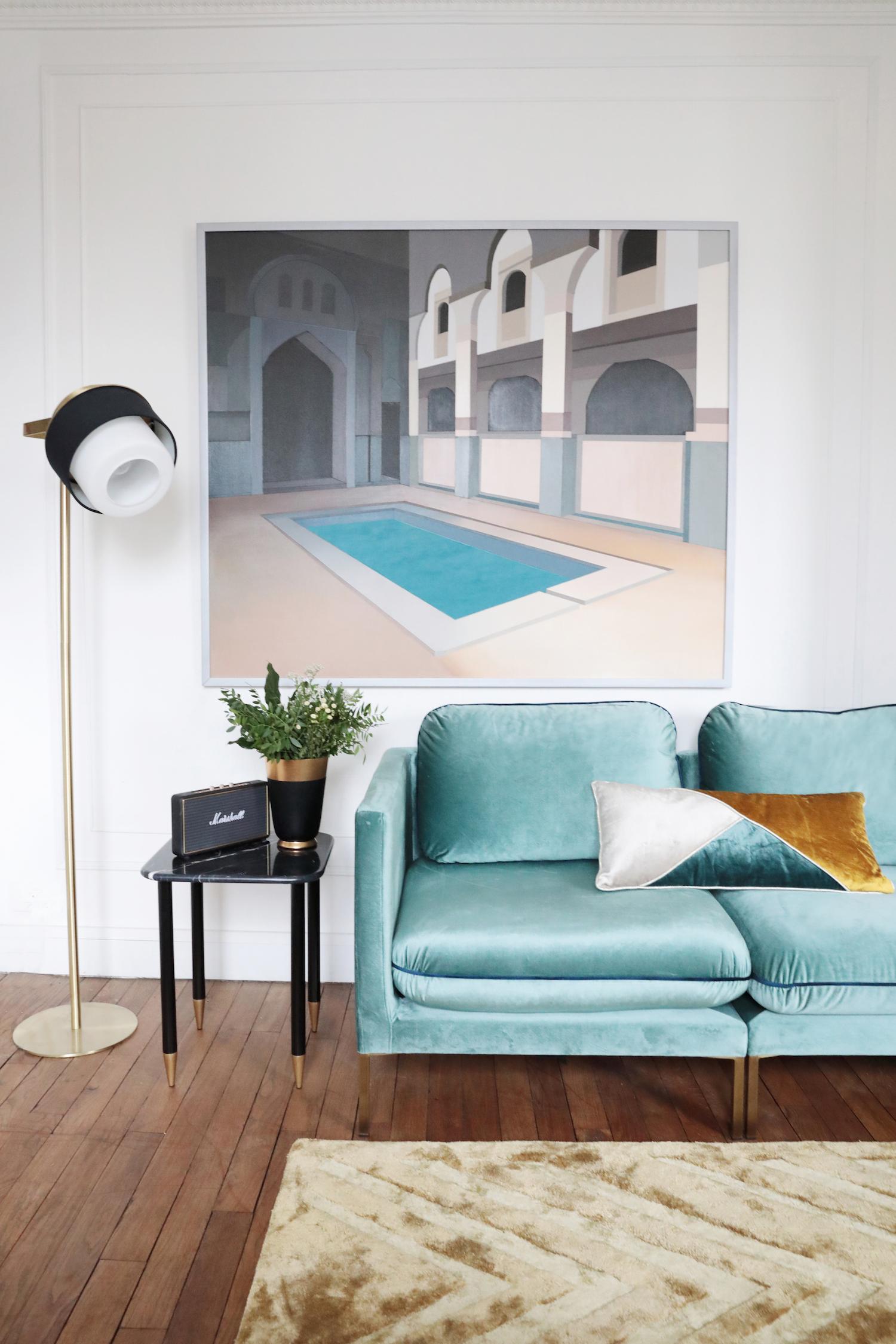 bienvenue dans l 39 appartement glamour de camille omerin de maison p re. Black Bedroom Furniture Sets. Home Design Ideas